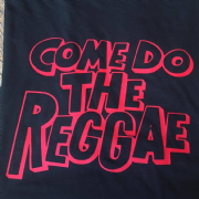 COME DO THE REGGAE T-SHIRT BLACK & RED